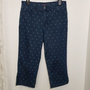 NYDJ nautical anchor crop jeans
